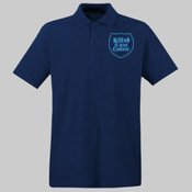 Blue Logo - - UltraClub® Men's Cool & Dry Mesh Piqué Polo